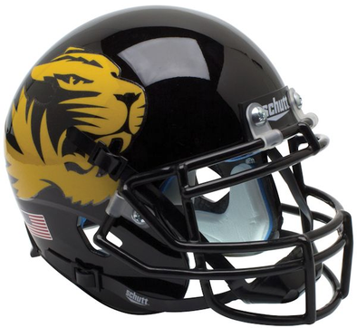 Mizzou Tiger Head Mini Football Helmet