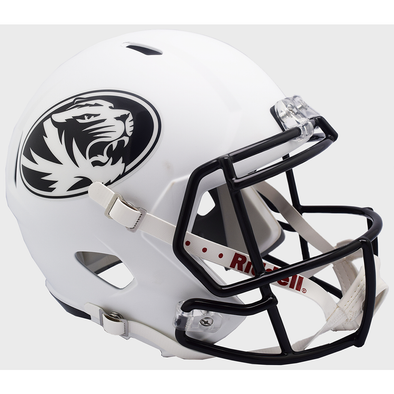 Mizzou Oval Tiger Head White Replica Football Helmet