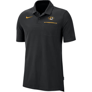 Mizzou Nike® 2019 Coaches Elite Oval Tiger Head Black Polo