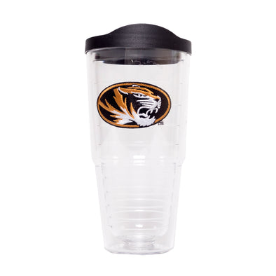 Mizzou Tervis Oval Tiger Head Clear Tumbler