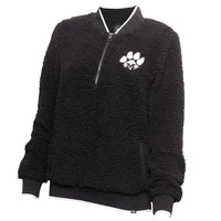 Mizzou Juniors' Black & White Sherpa Fleece 1/4 Zip Jacket