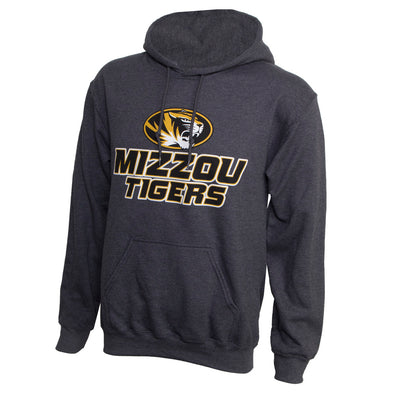 Mizzou Tigers Oval Tiger Head Grey Hoodie