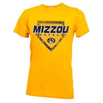 Mizzou Baseball Diamond Gold Crew Neck T-Shirt