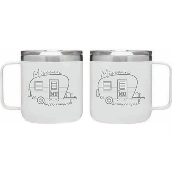 Mizzou Happy Camper White Travel Mug