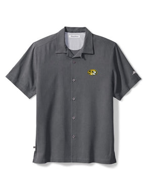 Mizzou Tommy Bahama Tropical Touchdown Grey Dress Shirt
