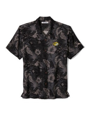 Mizzou Tommy Bahama Floral Black and Grey Dress Shirt
