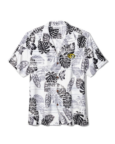 Mizzou Tommy Bahama Floral Black and White Dress Shirt