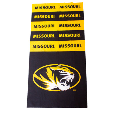 Mizzou Oval Tiger Head Black and Gold Superdana