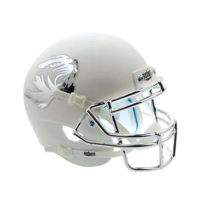 Mizzou Tiger Head White Mini Football Helmet