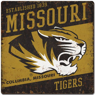 Missouri Retro Tiger Head Tin Sign