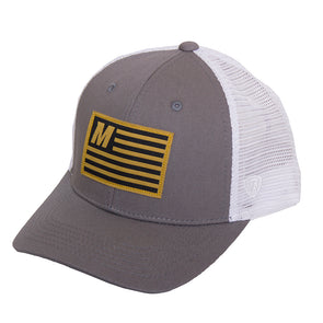 Mizzou Flag Charcoal Grey Trucker Hat