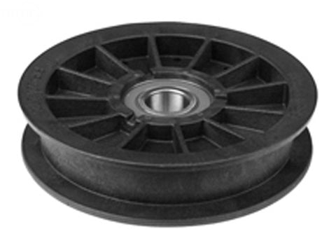 Replaces Exmark 109-4077 and Hustler 784827 Flat Idler Pulley