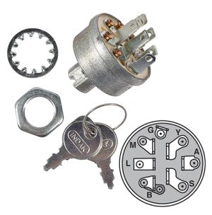 Replaces Keyed Ignition Switch for Murray, AYP, MTD, Husqvarna & Briggs