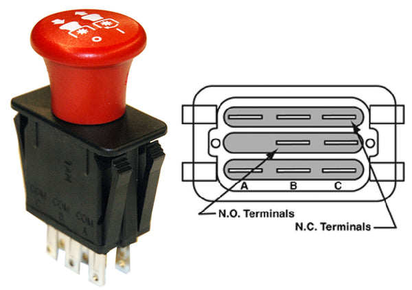 MP9657 Replaces PTO Switch for Scag 481635, Exmark 103-5221, 1-633673 and Many other