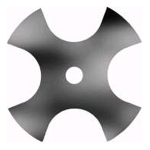 "EBS276 8"" 4-Point Star Edger Blade 1"" center hole"
