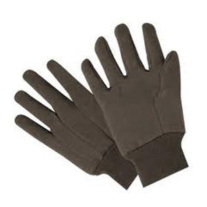 Brown Jersey Work Gloves - Large
