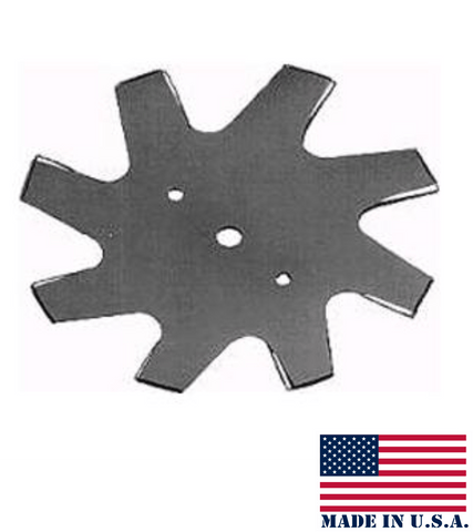 "EBS98 9"" 8-Point Star Edger Blade 1/2"" center hole"