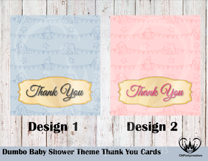 Dumbo Baby Shower Thank You Cards, Custom Thank You Cards