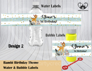 Bambi Water & Bubble Labels
