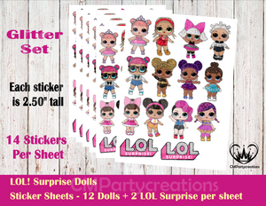 LOL SURPRISE DOLL STICKERS L.O.L.
