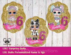 LOL Surprise Dolls Large Die Cut Decoration L.O.L.