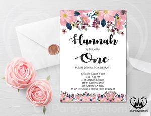 Floral Invitation Birthday