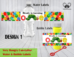 A Very Hungry Caterpillar Water & Bubble Label DIGITAL ONLY
