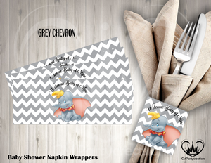 Dumbo Baby Shower/Birthday Napkin Wrappers