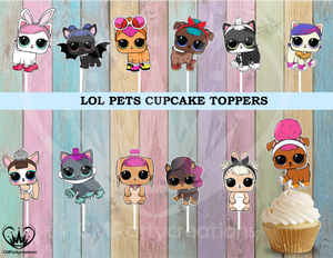 LOL Surprise Pets Cupcake Toppers Die Cuts L.O.L.