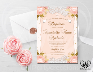 Baptism Invitation Printable