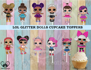 LOL Surprise Doll Cupcake Toppers Season 1,2,3, L.O.L.