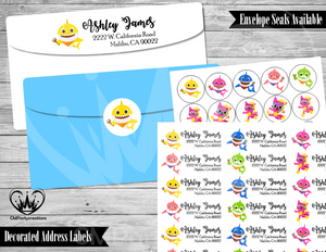 Baby Shark Address Labels Mailing Labels