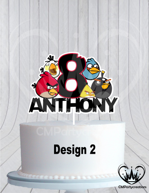 Angry Birds Birthday Cake Topper