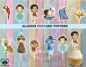 Aladdin Cupcake Toppers Birthday