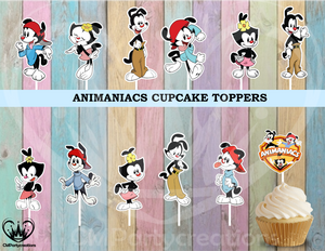 Animaniacs Cupcake Toppers Birthday Party