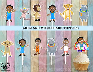 Akili and Me Cupcake Toppers