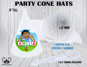 Akili and Me Personalized Cone Hats