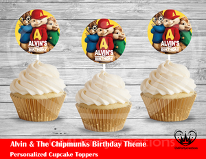 Alvin & The Chipmunks Round Cupcake Toppers