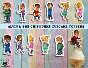 Alvin & The Chipmunks Cupcake Toppers