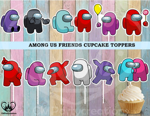 Among Us Friends Cupcake Toppers