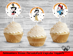 Animaniacs Round Cupcake Toppers