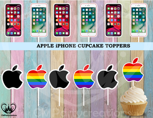 Apple iPhone Cupcake Toppers