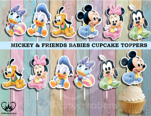 Mickey & Friend Babies Party Cupcake Toppers Die Cuts