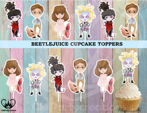 Beetlejuice Party Cupcake Toppers Die Cuts