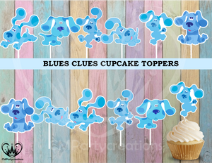 Blues Clues Birthday Party Cupcake Toppers
