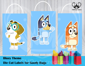 Bluey Die Cut Goody Bag Labels