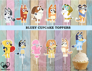 Bluey Birthday Party Cupcake Toppers