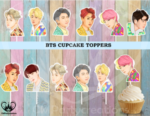 BTS Cupcake Toppers Birthday Party