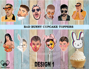 Bad Bunny Cupcake Toppers