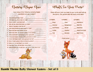 Bambi Baby Shower Games